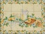 Lemonade with Border-RB - Tile Mural