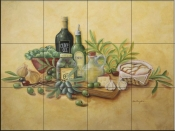 Tuscan Bounty-RB - Tile Mural