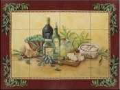 Tuscan Bounty with Border-RB - Tile Mural