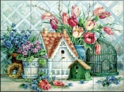 Quaint Little Neighborhood-BM - Tile Mural