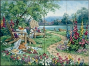 Lakeside Afternoon-BM - Tile Mural