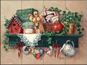 Country Shelf-BM - Tile Mural