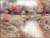 Blue Mountain River-BM - Tile Mural