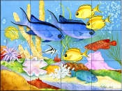 Creole Fish    - Tile Mural