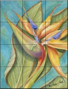 Bird of Paradise III    - Tile Mural