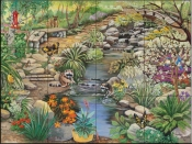 Creekside Path-SR - Tile Mural