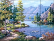 Lakeside Lodge-SK - Tile Mural