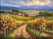 Vineyard Hill I-SK - Tile Mural