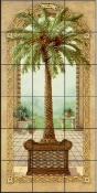 Palm Tree in Basket I-JK - Tile Mural