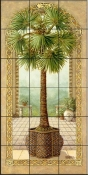 Palm Tree in Basket II-JK - Tile Mural