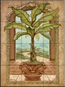Classical Banana Tree-JK - Tile Mural