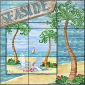 Whimsy Bay Collage I-PB - Tile Mural
