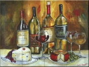 Wine and Cheese-JG - Tile Mural