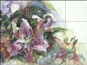 Tiger Lilies-CH - Tile Mural