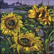 Tuscany Sunflowers - Tile Mural