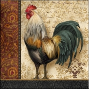 AW - A French Rooster I - Accent Tile