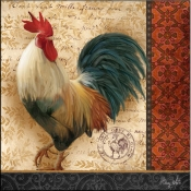 AW - A French Rooster III - Accent Tile