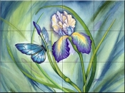 Lovely Iris-DF - Tile Mural