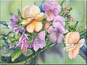 Pansy Paradise-DF - Tile Mural