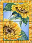 Summers Humming-DF - Tile Mural