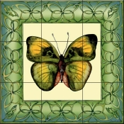 Butterfly Square 1-DF - Tile Mural