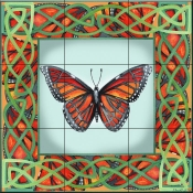 Butterfly Square 7-DF - Tile Mural