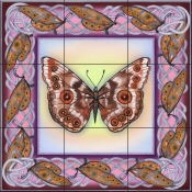 Butterfly Square 10-DF - Tile Mural