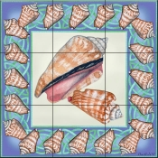 Seashell Square 4-DF - Tile Mural