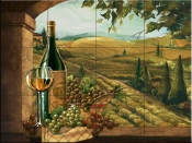 Vineyard Window II-JS - Tile Mural