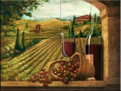 Vineyard Window I-JS - Tile Mural