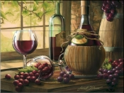 Wine by the Window I-JS - Tile Mural