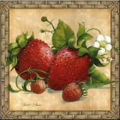JS - Strawberries - Accent Tile