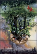 Save The Rainforest    - Tile Mural