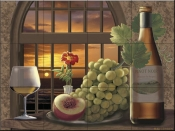 Pinot Noir at Sunset-RS - Tile Mural