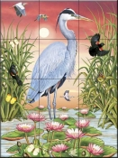 Great Blue Heron-RS - Tile Mural