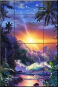 Hawaiian Embrace-CRL - Tile Mural