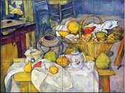 Still life with Fruit Basket - Tile Mural