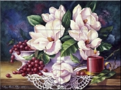 PTS-Magnolias and Candle - Tile Mural