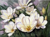 PTS-Open Tulips - Tile Mural