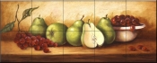 PTS-Pears and Grapes Panel II - Tile Mural