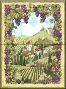 Country Vineyard-JVD - Tile Mural