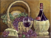 Chianti with Goodies-TK - Tile Mural