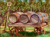 Wine Barrels-TK - Tile Mural