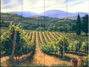 Tuscan Vines-MS - Tile Mural