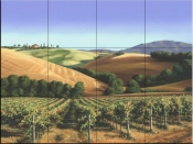 Under Tuscan Skies-MS - Tile Mural