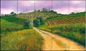 Tuscan Road-MS - Tile Mural