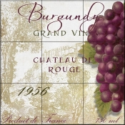 Grand Vin Burgundy-CB - Tile Mural