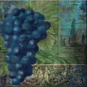 Vino Blu Two-CB - Tile Mural