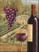 French Vineyard IV-CB - Tile Mural