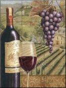 French Vineyard V-CB - Tile Mural